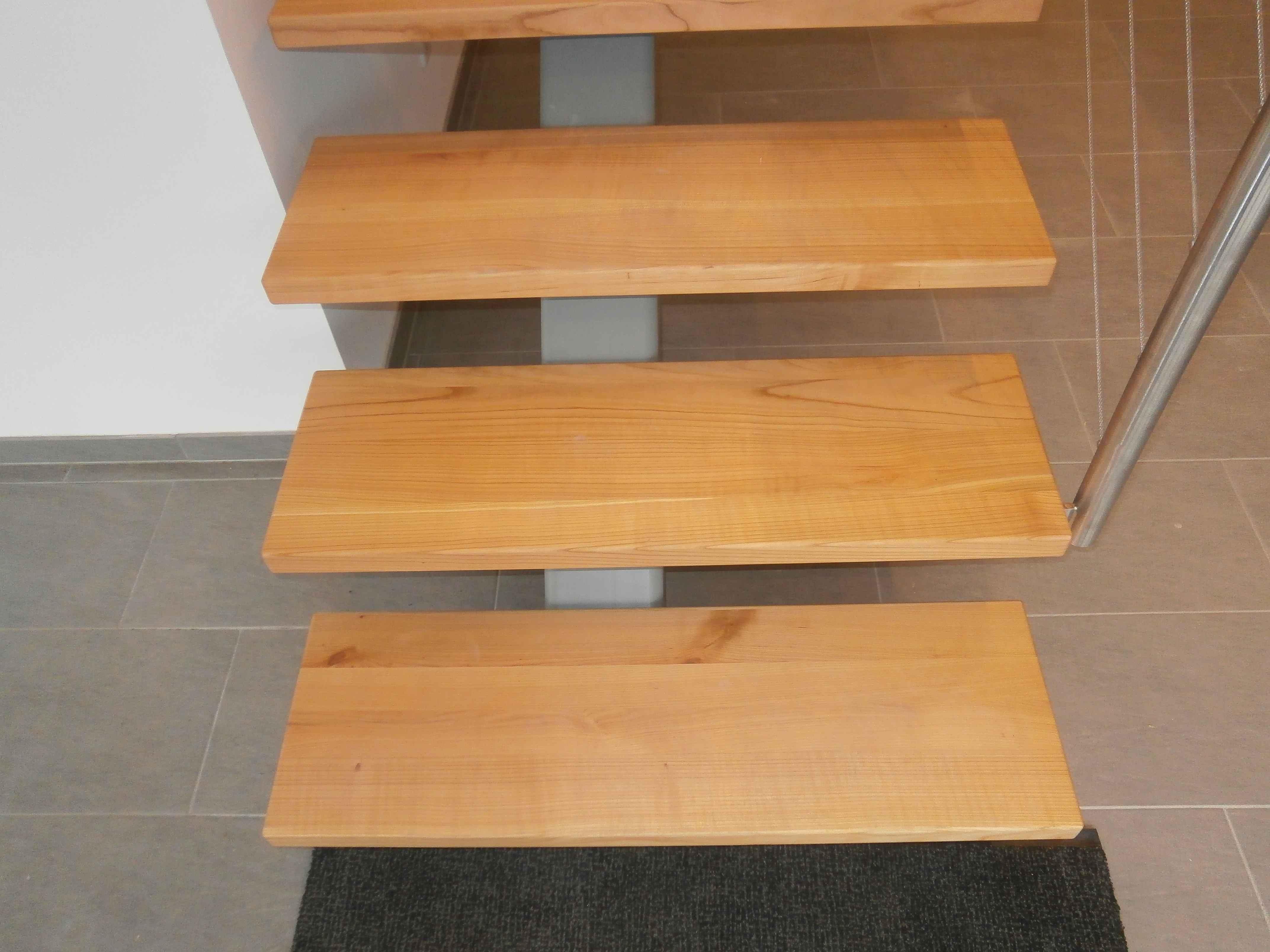 Meine Holzstufende Setzstufen Aus Amerikanischem Kirschbaum Zu