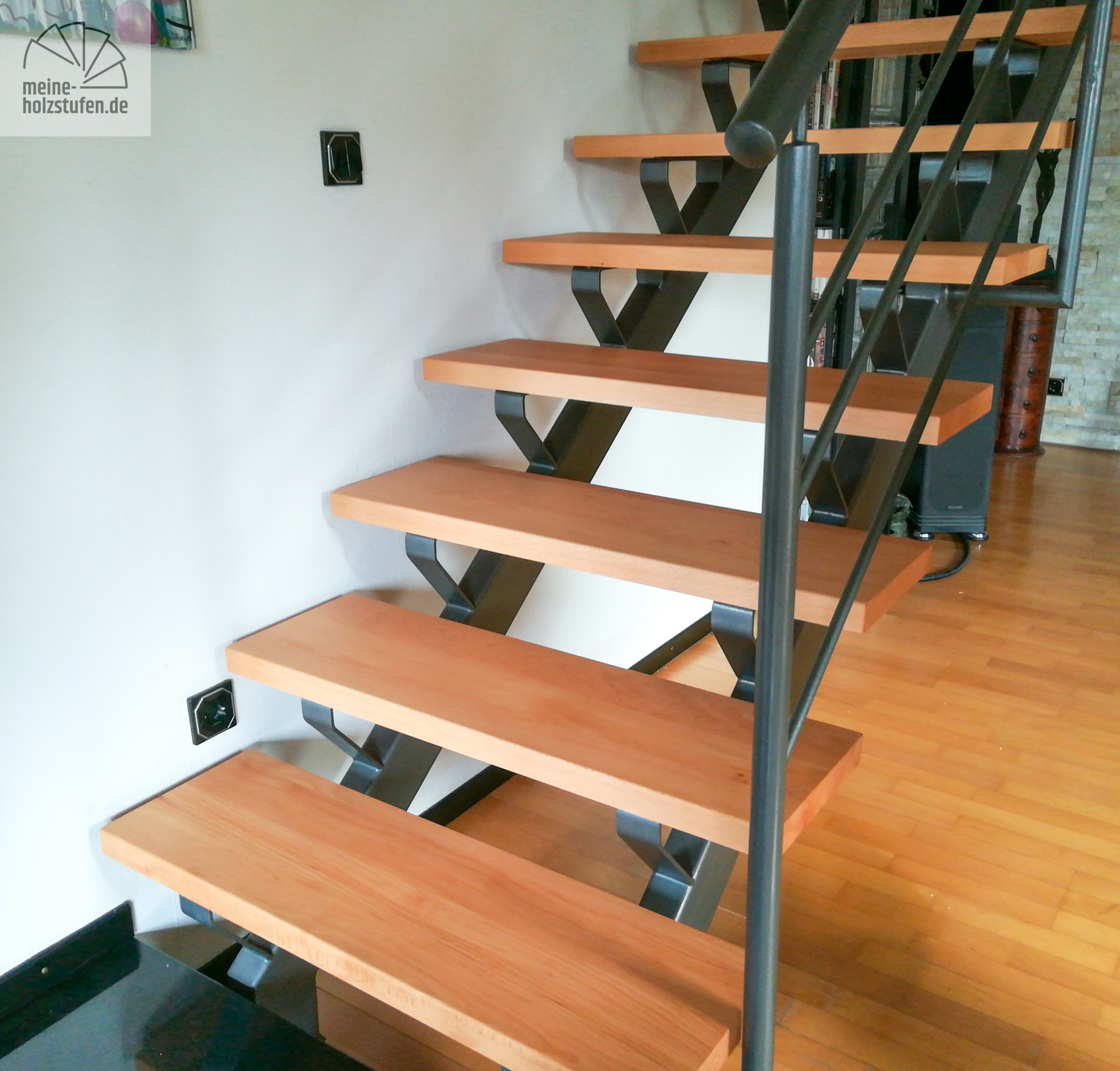 Holz 1000x300x40 Stufe Treppenstufe Buche